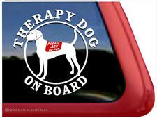 Therapy Dog on Board Plott Hound Dog Window Decal