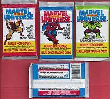 Single Wax Pack 1991 MARVEL UNIVERSE SERIES II / 2