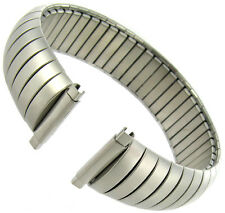 16-21mm Speidel Twist-O-Flex Silver Tone Matte Stainless Watch Band 9911 X-LONG