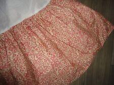 """Ralph Lauren San Luca Coral Terracotta Scroll Medallion Bedskirt King 14"""" Split"""