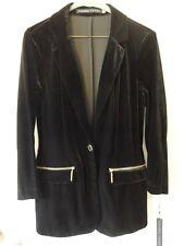 Ivanka Trump Women's Gold Tone Single Button Black Velvet Blazer Jacket SZ 6 NEW