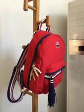 Tory Burch Women's Red Preppy Canvas Backpack RRP$250