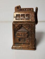 Vintage Bronze slot machine bank