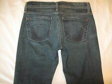 James Jeans Cured by Seun Low Bootcut Dark Distressed Sz 26