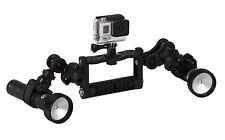 Goodman-Handle Videolicht Set 2400 Lumen Wiederaufladbare für GoPro® GO010