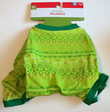 Christmas Dog Pajamas Pet Costume - Size L - PJs - Green Holiday Fun Brand New