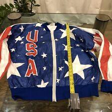 Usa Olympics Ultra Rare Vintage Jacket New No Tags Logo + Stars Size Xl (44-46)