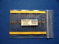 Resistors, carbon film, 1/4 watt, 5%, axial leaded, 470 Ohm - QTY of 20
