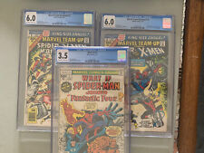 Two (2) CGC 6.0 Marvel Team-Up Annual #1 Spidey/X-Men & One (1)What If #1 GC 3.5