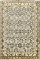 8'x10' Vegetable Dye Geometric Khotan Oriental Area Rug Hand-knotted Wool Carpet
