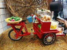 Thai Fruit Selling Model Miniature Dollhouse Tricycle Cart Street Food Tropical