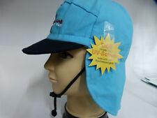 UV Schutz50 51 52 53 54 binden Nackenschutz Sonnen Cap Kappe Junge Mädchen blau