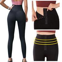 Damen Korsett Yoga Sport Legging Hohe Taille Kontrolle Bauch Anti Cellulite Hose