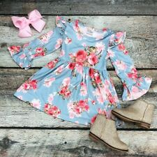 Girls Easter Dress Spring Floral Dress Milk Silk NWT FREE BOW All Sizes