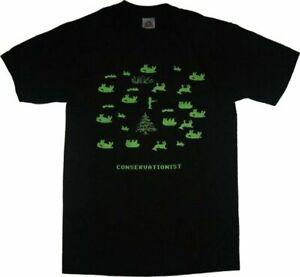 Adult Men's Oregon Trail Computer Video Game Conservationist Black T-Shirt Tee
