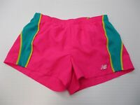 NEW BALANCE Women's' Size S Inner Brief Running Hot Pink/Teal Drawstring Shorts