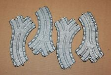"""TAKE ALONG THOMAS TRACK - (4) FFM 6"""" CURVE SWITCH TRACK 'CST' PIECES"""