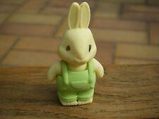 Goma borrar conejo-Rabbit Eraser-Green overoles (fiesta Bag Toys, gifts)