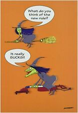 "New Rideks' - Funny Halloween Greeting Card with 5"" x 7"" Envelope by NobleWorks"