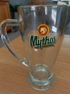 MYTHOS BREWERY GREEK BEER 0.5 LITRE 1 Pint GLASS TANKARD pint mug handled