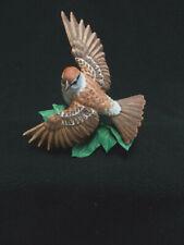 1990 Lenox Garden Bird Sculpture Collection Chipping Sparrow w/Box/Coa-Vgc
