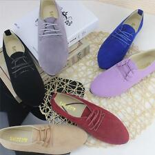 D138 Women's Flats Point-Toe Candy Colors Lady Ballerina Microsuede Casual Shoes