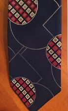 Wembley Vintage Luxury Tie-Navy-Red-White-Woven in Italy-Polyester-Ships Free