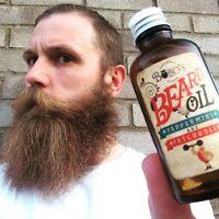 A BOBOS BEARD COMPANY BEARD OIL HELPS THE BEARD GROW,PROTECTS,REPAIRS