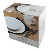 Dinner Set 12pc White By Modena NEW!!