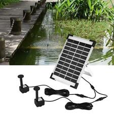 5W Double Pump Brush-less Aquarium Fountain Pond Solar Submersible Water Pumps