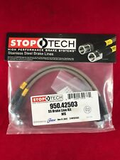 STOPTECH STAINLESS STEEL REAR BRAKE LINE G35 G37 350Z 370Z M35 M45  950.42503