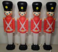 """Vintage 30"""" Toy Soldiers Set Of (4) Christmas Blow Mold Yard Decoration Empire"""
