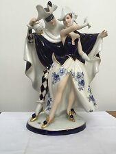 SALE HUGE Royal Dux MASQUERADE Couple Magnificent Bohemia Vintage