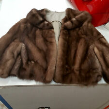 Excellent pastel brown Mink Fur crop jacket size S