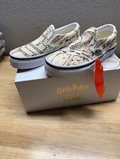 VANS x Harry Potter Marauders Map Classic Slip On Vault Kids SZ 12 New!!