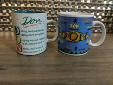 2 for 1 mugs! When you are 'The Don' you need your name on two mugs!!!