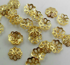 Lots 500pcs Silver Gold Plated Metal Flower Bead Caps 6mm DIY Findings