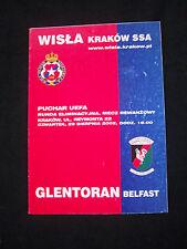 Orig.PRG   UEFA Cup  2002/03   WISLA KRAKOW - GLENTORAN BELFAST  !!  SELTEN