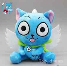 "New Cute Blue Happy Cat Anime Fairy Tail Soft Plush Doll Toy 6.3"" Teddy Gift  G"
