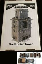 4Ground 28F-GOC-201 28mm Gothic City North Point Tower (1) Miniature Terrain NIB
