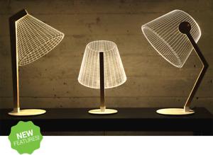 3D Table Lamp LED Night Light Office Home Bedside Lighting Desk Lamp New