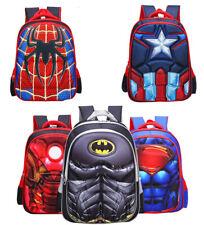 3D Kids Boys Superman Spiderman Batman Captain America School Bag Backpacks FAST