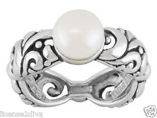 PEARL STERLING SILVER GENUINE CULTURED FRESHWATER PEARL STURDY  BAND RING SIZE 8