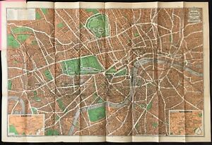 1933 Pictorial Plan of London by Geographia In Original Guide