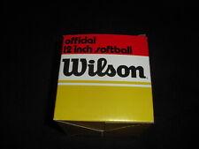 wilson vintage softball A9071 Fireball new in the box.