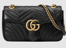 authentic GG Chain Marmont Small Quilted Leather Shoulder Black bag + Free Gift