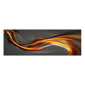 -CUSTOM MADE PRODUCT- Print on Glass Wall art 150x50 Picture Image Abstract Art