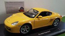 PORSCHE CAYMAN S jaune échelle 1/18 WELLY 18008W voiture miniature de collection