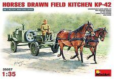 Mini Art 1/35 KP42 Soviet Horse Drawn Field Kitchen Model Kit 35057