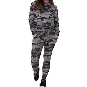 Womens Ladies Tracksuit Sweatshirt Pants Suit Joggers Wear Sports 2 Pcs Set UK